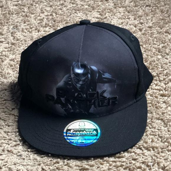 Black panther SnapBack hat. M 5b99769a6a0bb7eede21de17 1c0dcaeeb3d